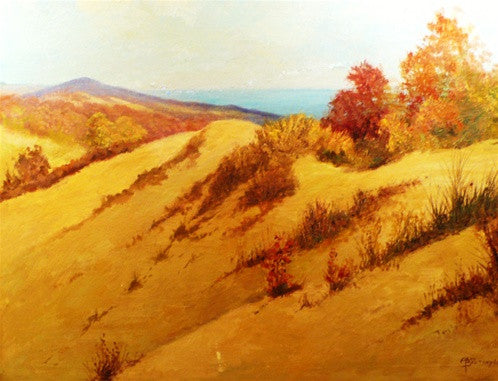 Signed Oil Painting of Dunes, Bretsnyder