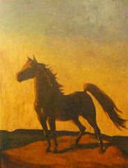 Painting of Horse signed by Sister Marguerite Poley