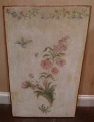 Pair of Painted Wooden Decorative Panels