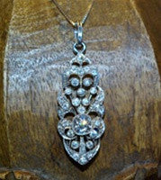 Estate Platinum and Diamond Lavalier Necklace/Pendant