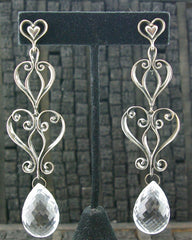 Marisa Perry Sterling Silver and Clear Quartz Earrings