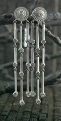 Marisa Perry 18K White Gold Falling Diamond Earrings