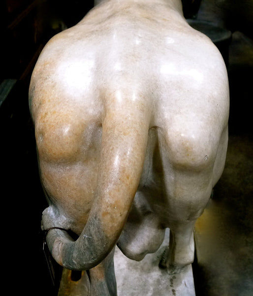 Large Italian Marble Sculpture of Bull
