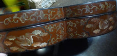 Antique Japanese Lacquered Sweetmeat Chinoiserie Container in the Lucky Figure Eight