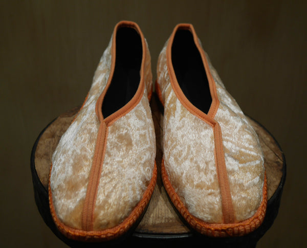 Venetian Silk Hand Painted Velvet Slippers