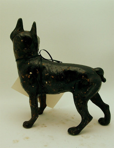 Antique Black Pug Iron Door Stop