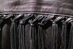 Jarbo Black Leather Fringe Jacket