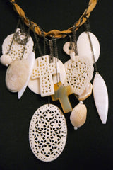 Chan Luu Carved Resin Charm Necklace