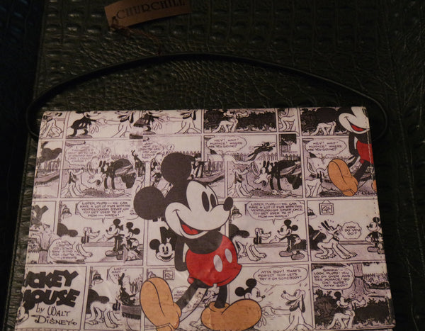 Your Sister's Moustache Mickey Mouse Foldover Clutch Handbag