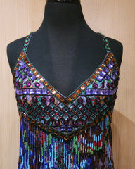 Jenny Packham Beaded Aztec Dress