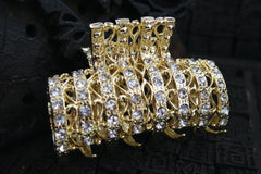 Rhinestone Filigree Hair Jaw Clasp
