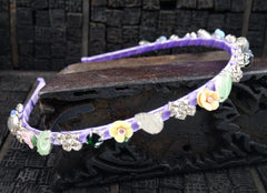 Jeweled Silk Headband