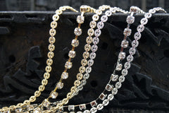 Triple Chain and Rhinestone Headband