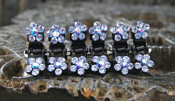 Crystal Flower Baby Jaw Hair Clips
