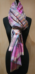 Epice Coral Plaid Scarf