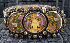 VSA Virgins, Saints, & Angels Triple Goddess Image Belt and Buckle
