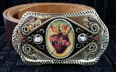 VSA, Virgins, Saints & Angels Vaquero Curved Buckle and Belt