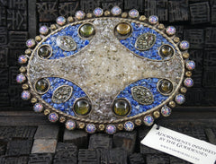 VSA Virgins, Saints & Angels Oval Mosaic Grande Buckle in Blue