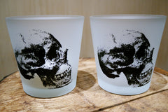 Two's Company Skeleton Votives - Pair