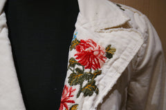 Johnny Was Embroidered Floral Corduroy Jacket