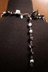 Erickson Beamon Black Chain Link Necklace with Crystals