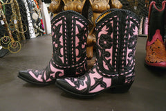 Old Gringo Black and Pink Jude Boot