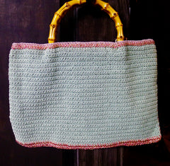 Lorenza Hand Crocheted Silk with Murano Glass Rina Roger Handbag