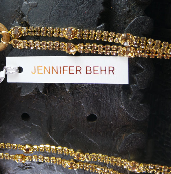 Jennifer Behr Keira Crystal Headwrap- Gold