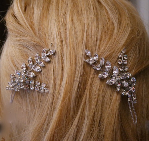 Jennifer Behr Blossom Crystal Hairpins