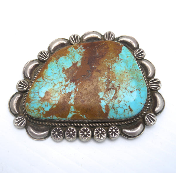 Native American Navajo Sterling Silver and Turquoise Pin/Brooch