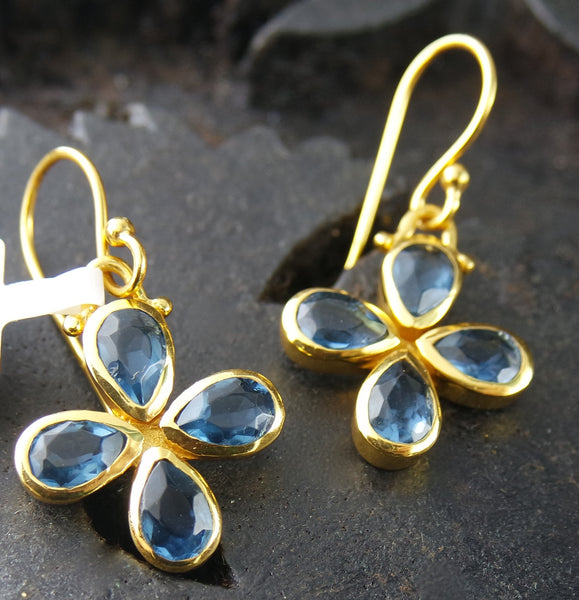 Julie Vos Eve Blue Sapphire Earrings