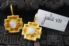 Julie Vos Imperial Gold Moonstone Earrings