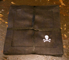 Two's Company Skeleton Linen Cocktail Napkins