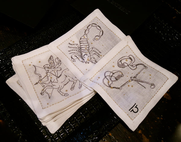 Kim Seybert Zodiac Cocktail Napkins