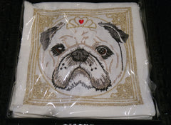 Kim Seybert Dog Portrait Linen Cocktail Napkins