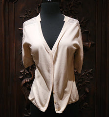 Vivienne Tam Pointelle Cardigan Top