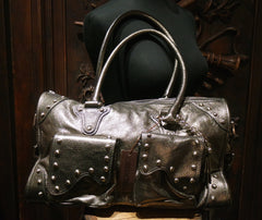 Be & D Metallic Studded Shoulderbag