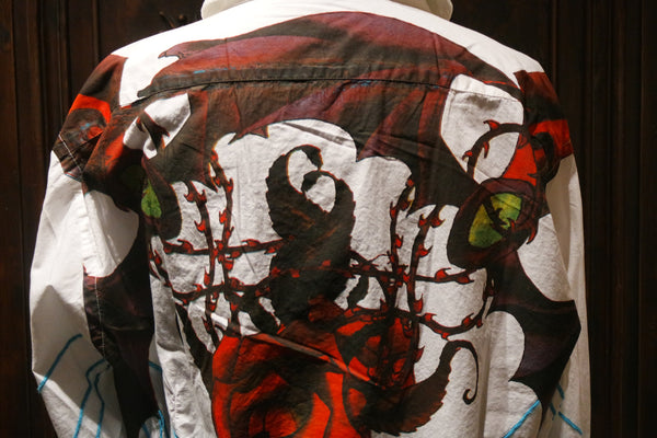 Raw 7 Men's Embroidery and Painted Daggers Shirt