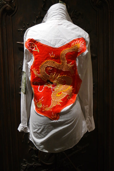 Fresh Karma Dragon Camp/Western Style Shirt