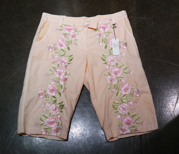 And Cake Floral Embroidered Shorts