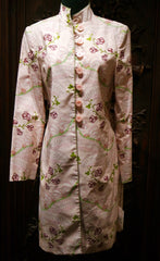 Quadrille Long Jacket/Dress in Silk Floral Fabric
