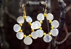 Sonya Ooten Faceted Moonstone Earrings in 14K Yellow Gold