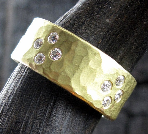 Annie Fensterstock 18K Yellow Gold Ilissa Ring