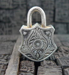 Sevan Bicakci 24k and Oxidized Sterling Silver Dagger Padlock Pendant