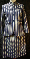 Vintage Geoffrey Beene Chevron Jacket and Skirt Set
