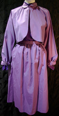 Vintage Geoffrey Beene Iridescent Lavender Skirt and Jacket with Blouse