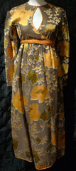 Vintage Geoffrey Beene Silk Lotus Flower Dress