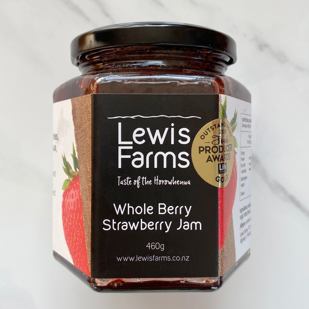 Our highly coveted and award-winning Whole Berry Strawberry Jam is batch-made, on-farm where we grow our famously sweet strawberries.