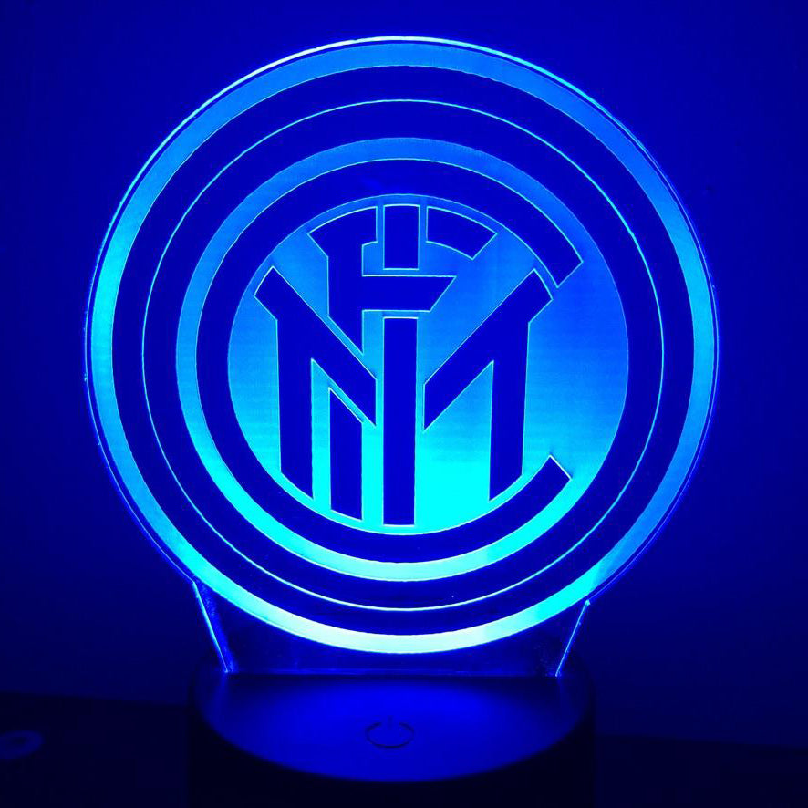INTER MILAN SOCCER FOOTBALL 3D NIGHT LIGHT - Eyes Of The World