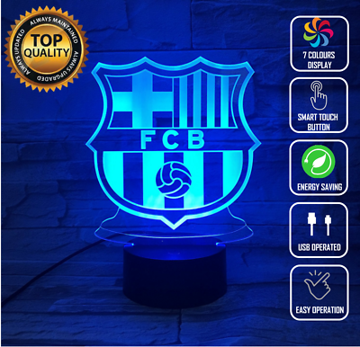 BARCELONA FC 3D NIGHT LIGHT - Eyes Of The World
